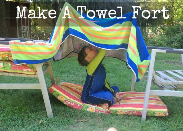 Make a towel fort