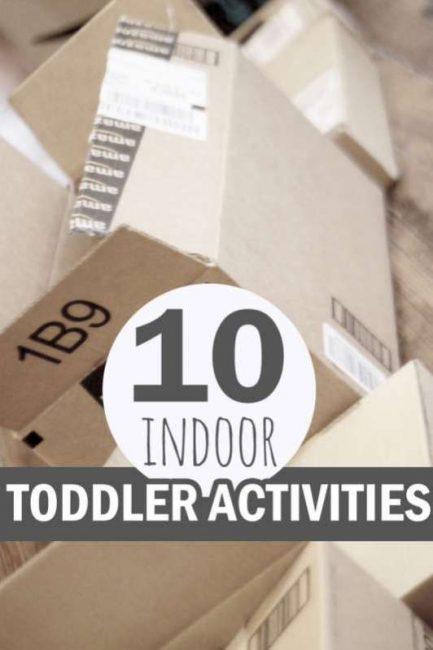 10 indoor toddler activities