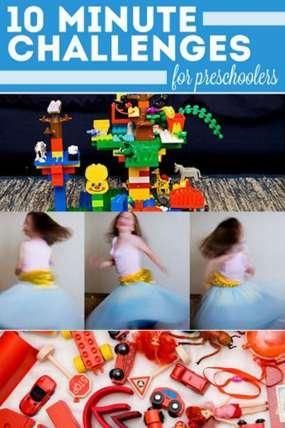 10 Ten-Minute Challenges for Preschoolers