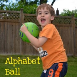 Alphabet ball game for preschoolers