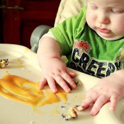 Baby food sensory play