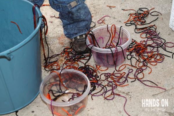 Spaghetti sensory messy play!