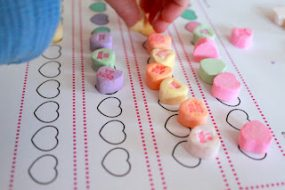 A Valentine's Day Activity or Two: Patterning & a Heart Hunt