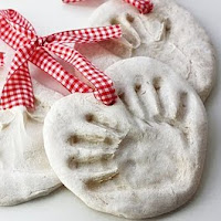 Salt Dough Handprints, 1 of the 30 homemade ornaments for kids