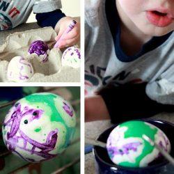 crayon eggs