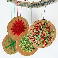 Woven cardboard stars