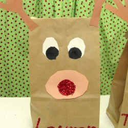 Reindeer Paper Sack
