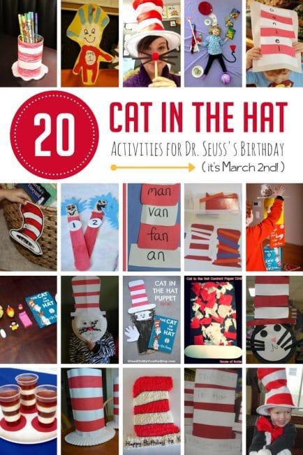 20 Cat in the Hat Activities for Preschoolers