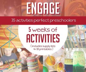 Activity plans for preschoolers (3 to 5 year olds)