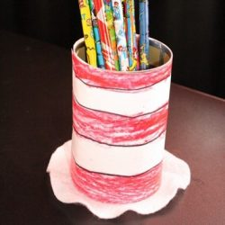 Cat in the Hat Pencil Holder