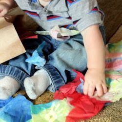 Tissue Paper Scraps for Toddler Play