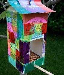 Milk Carton Bird Feeder