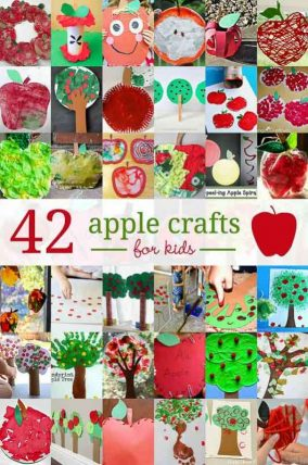 42 adorably cute apple crafts for kids to make in the fall