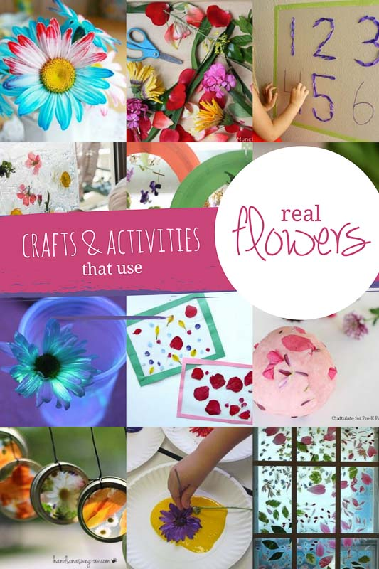 Real Flower Crafts Amp Activities For Kids Hands On As We Grow