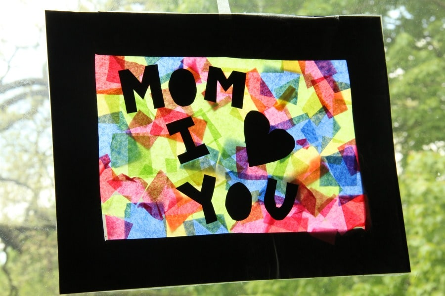 Mother's Day Suncatcher craft for mother's Day