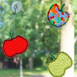 Apple suncatchers - a back to school craft for kids