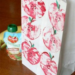Apple prints - a back to school craft for kids