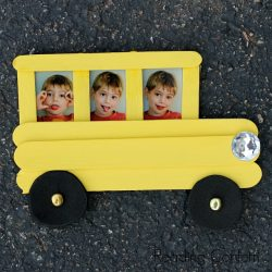 Craft stick school bus - a back to school craft for kids