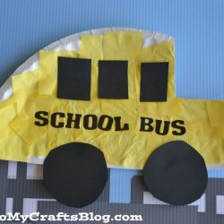 School bus craft - a back to school craft for kids