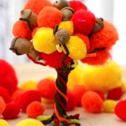 Fall Pom Pom Tree