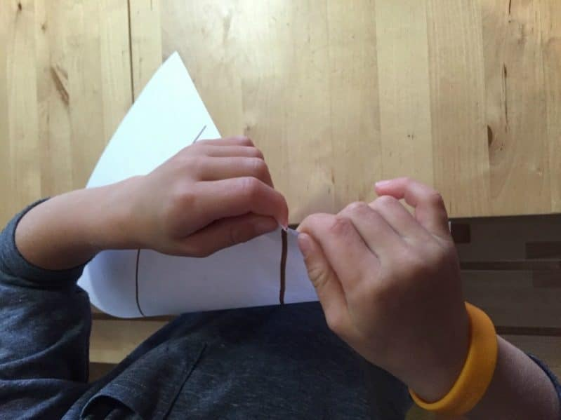 crumpled paper fall tree art ripping paper