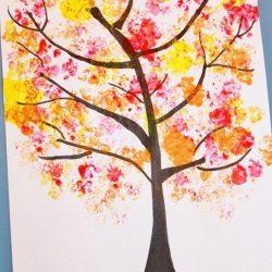 Cauliflower Printed Fall Trees