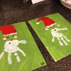 Handprint Santa Beard Craft