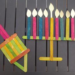 Popsicle Stick Chanukah Decorations