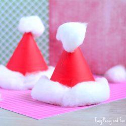 Paper Plate Santa Hats Craft