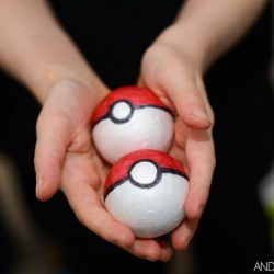 DIY Foam Pokeball craft