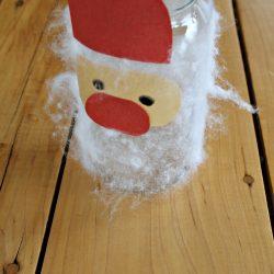 Fuzzy Santa Mason Jar Craft