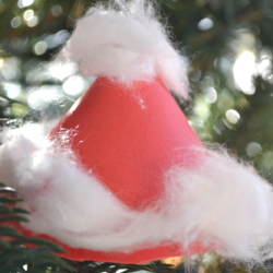 Santa Hat Ornaments