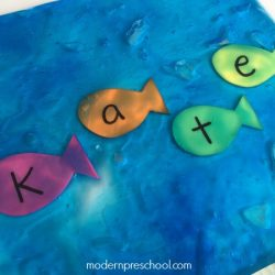Ocean Name Recognition Sensory Bag