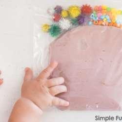 Play Dough Sensory Bag