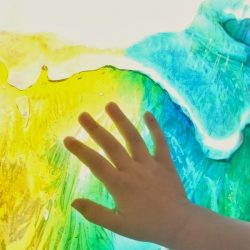 Color Mixing Sun Catcher Sensory Bags