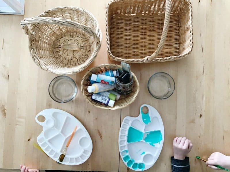 basket painting process art