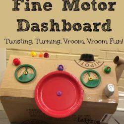 Fine Motor Dashboard for Pretend Play