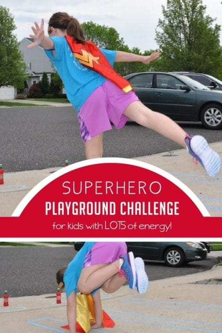 This superhero playground challenge looks like a great way to burn off energy!