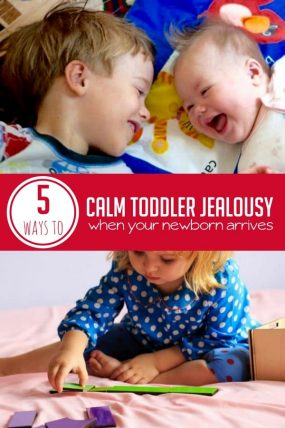 How to Calm Toddler Jealousy When Your Baby Arrives
