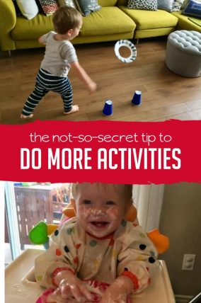 This not-so-secret tip to doing more activities with your kids is surprisingly easy.