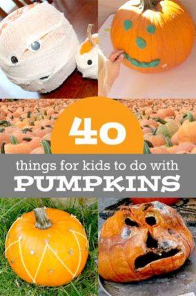 40 pumpkin activities - no-carve pumpkin decorating, learn with pumpkins, lots of pumpkin fun for kids!