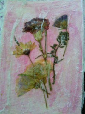 smashed flowers