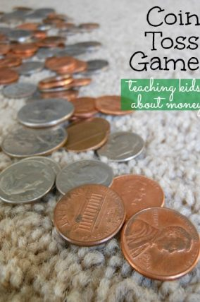 Coin Toss Game for teaching kids about money