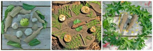Earth art mandalas to make