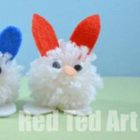 Pom Pom Bunny Craft