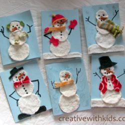 Felty snowmen cards
