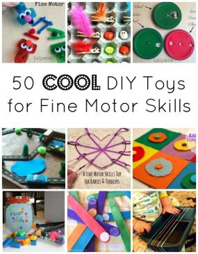 50 COOL DIY Toys that Promote Fine Motor Development from Lalymom