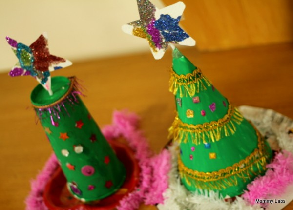 Upcycled Christmas Tree Decorations - 10 homemade Christmas decorations for kids to make