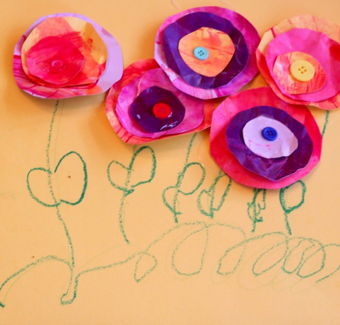 Mother 39 s day craft for kids to make flower cards for Mothers day painting crafts
