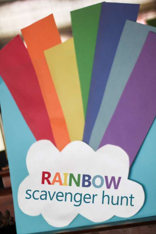 Rainbow Scavenger Hunt with Clues